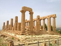 ruin of ancient temple italy, sicily, agrigento