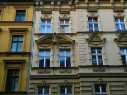 part of charlottenburg palace facade, germany, berlin