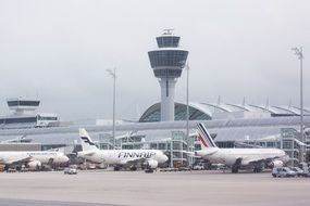 planes at terminal on airport, germany, munich