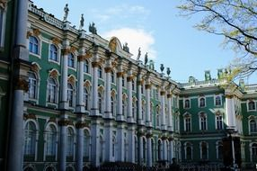 inner walls of winter palace, russia, st petersburg