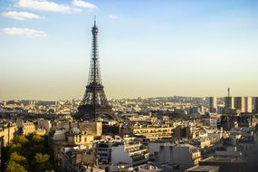 paris panorama eiffel tower day view