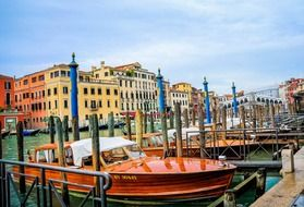 colourful romantic canal grande venice italy