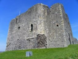 medieval Royal Dundonald Castle at sky, uk, scotland, Ayrshire