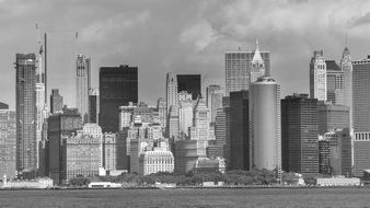 Black and white picture of manhattan