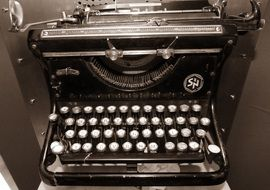 vintage mechanical typewriter