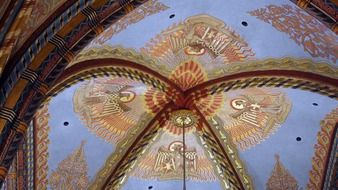 Matthias church ceiling murals monument