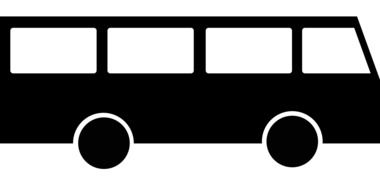 black bus, abstract icon