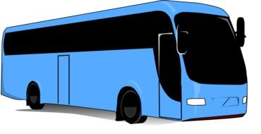 comfortable passenger bus, illustration