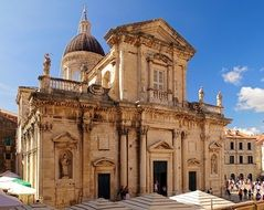 The Assumption Cathedral is a Roman Catholic cathedral in Dubrovnik Croatia