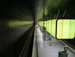 metro station platform, top view, germany, hamburg
