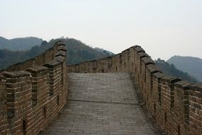 stone walk path in ancient great wall, china, Beijing