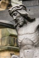 christ jesus face, fragment of wooden ‎Crucifixion