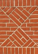 red brick pattern on wall