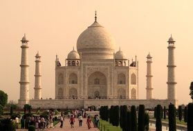 taj mahal the sight of agra india
