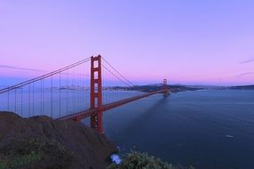 famous golden gate bridge in San Francisco California