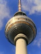 observation deck of tv tower at sky, germany, berlin