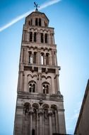Steeple of St. Dominus at sky, croatia, split