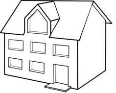 drawing of a single family house