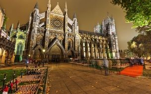 Westminster Abbey at evening, uk, england, london