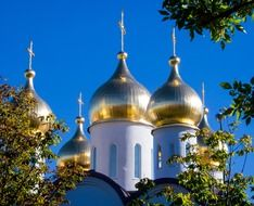 Golden domes of the Orthodox Church in Moscow