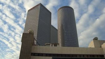 azrieli center towers at sky, Israel, Tel Aviv