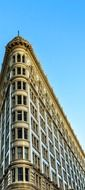 top of flat-iron building at sky, usa, california, san francisco