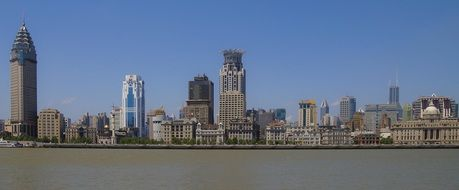 panoramic city skyline, china, shanghai