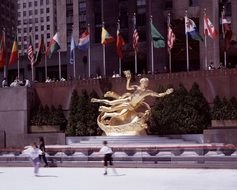 new york city rockefeller center golden statue
