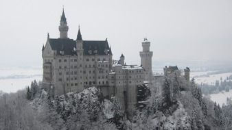 neuschwanstein castle at winter, germany, tirol