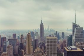 new york, city, skyline, empire state