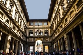people in square in florence