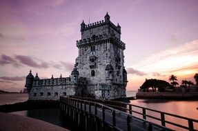 Belem Tower at dusk, portugal, lisbon