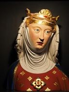 crowned woman bust, switzerland, basel