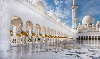mosque abu dhabi travel white
