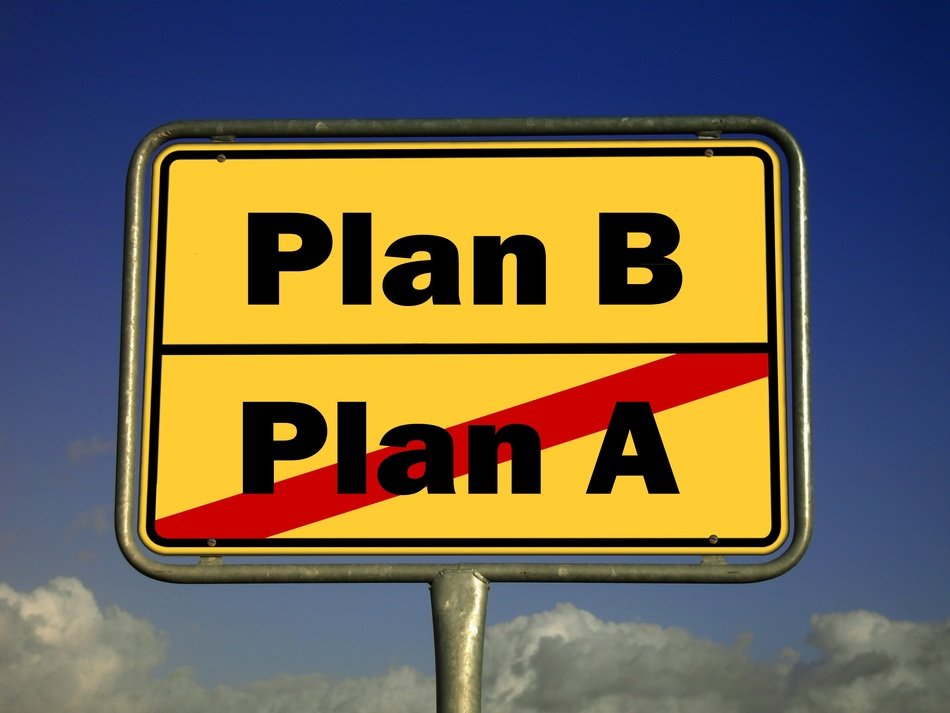 road sign plan B no plan A