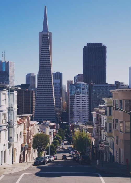 Transamerica Pyramid in the San Francisco skyline