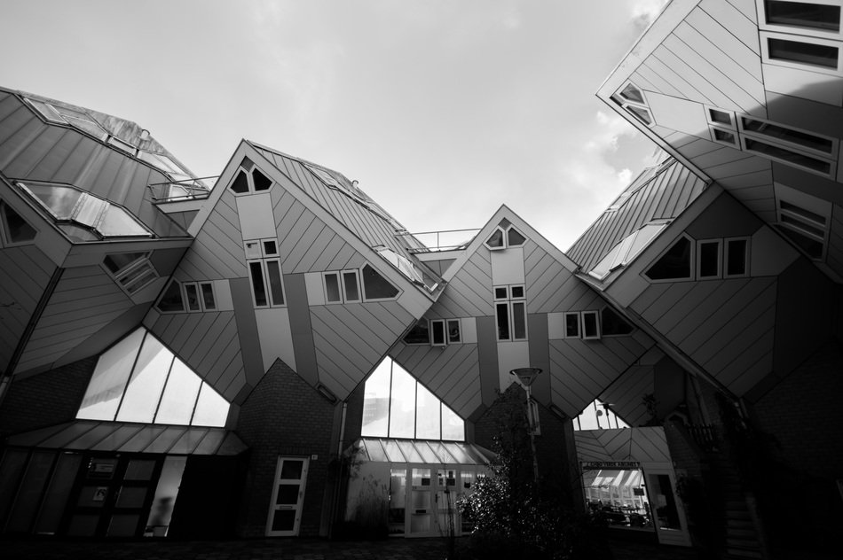 cubic design of houses in rotterdam