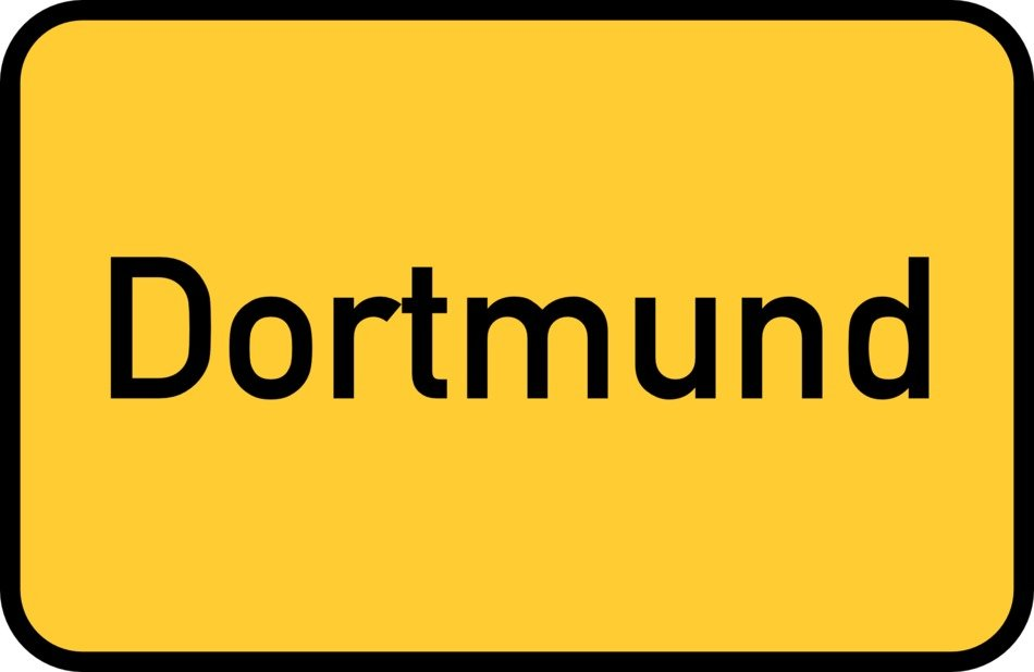 dortmund yellow town sign