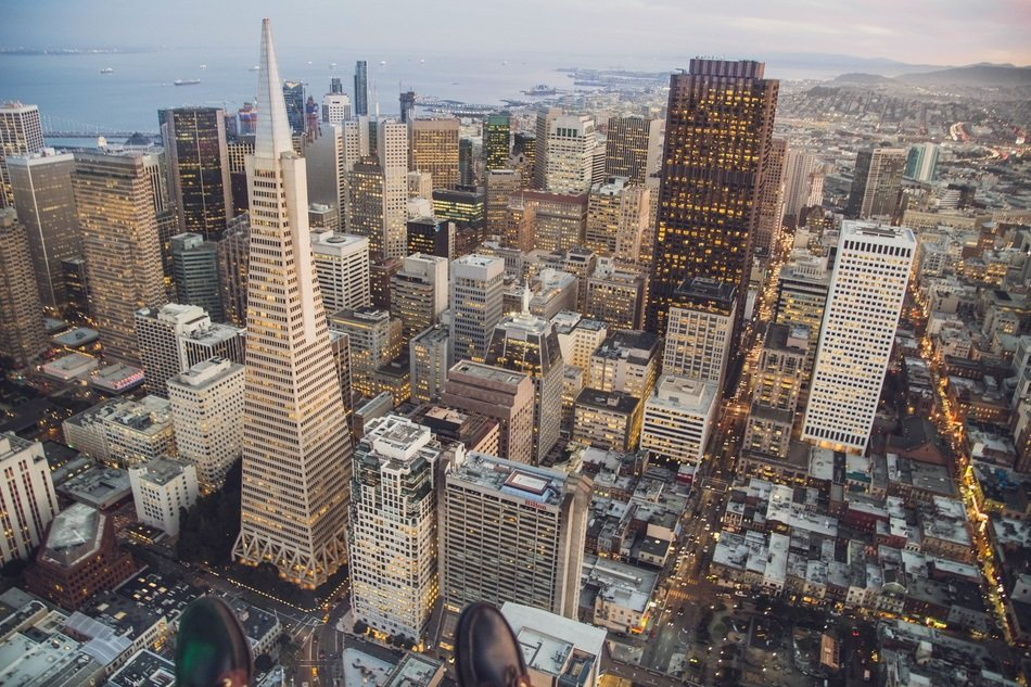 modern towers in downtown, usa, california, san francisco