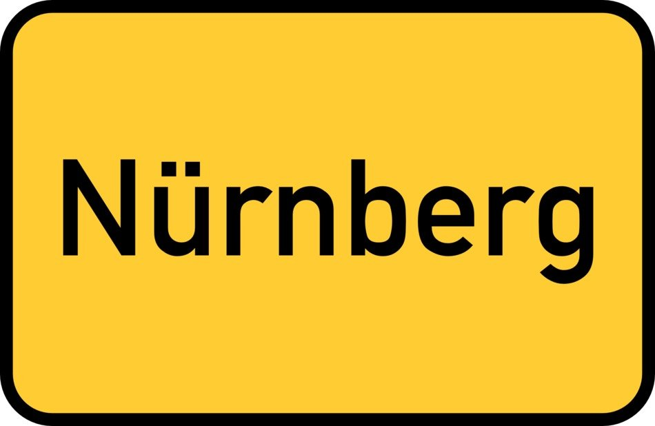 nuremberg yellow town sign