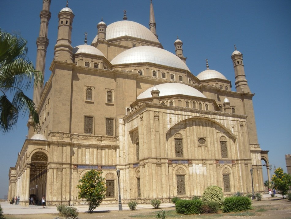 grand mosque of muhammad ali at sky, egypt, cairo
