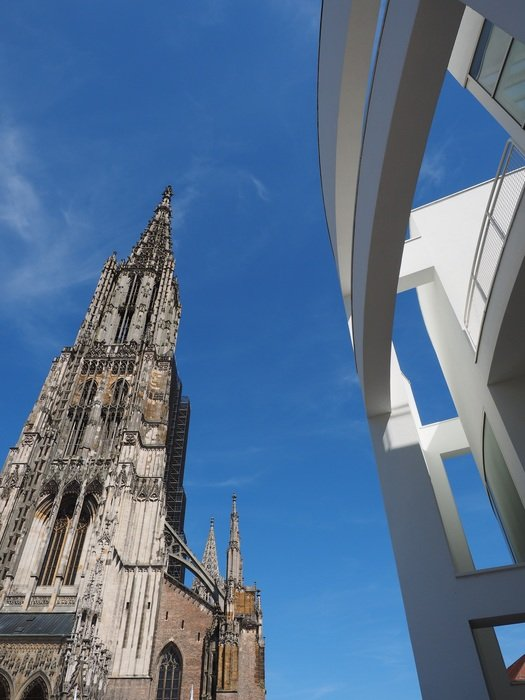 Ulm Minster, lutheran church at sky, germany, münster