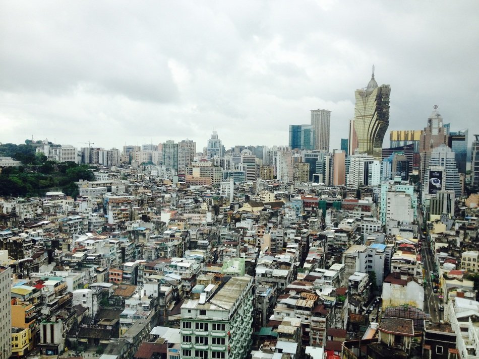top view of downtown at cloudy day, china, macau