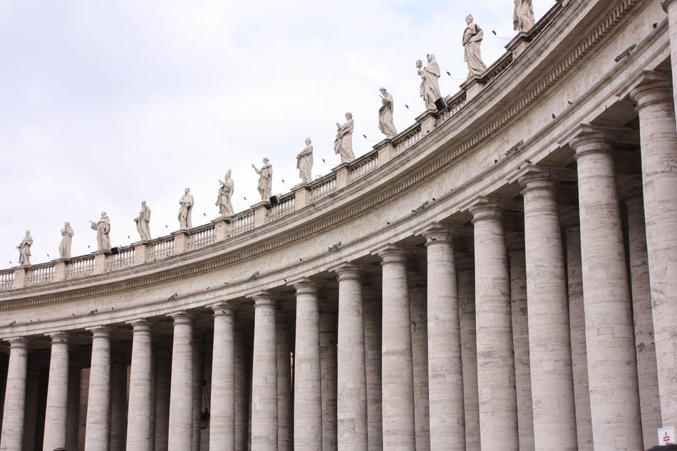 columns of St.Peter's Basilica, italy, rome, vatican