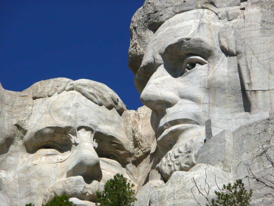 close up of mount rushmore national monument, usa, south dakota