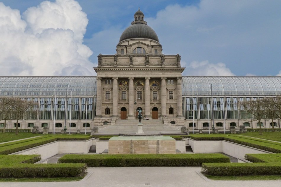 Bavarian State Chancellery in park, germany, munich