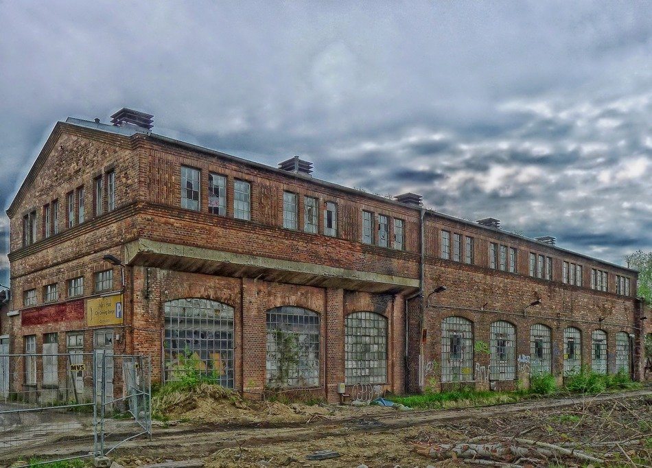 abandoned brick warehouse, germany, berlin, grunewald