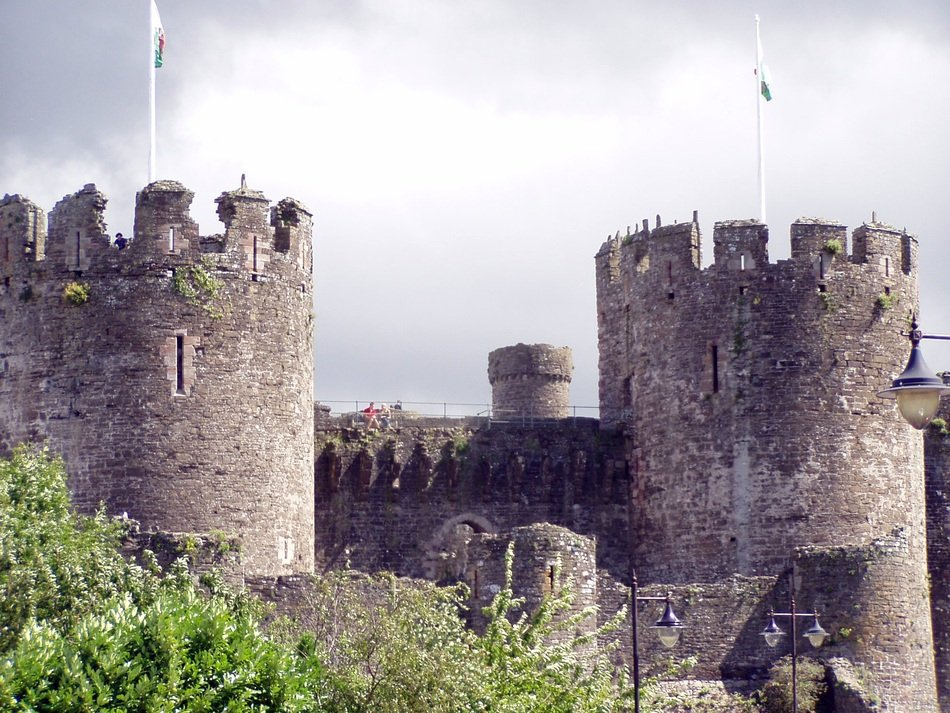 towers of medieval conwy castle, uk, Wales