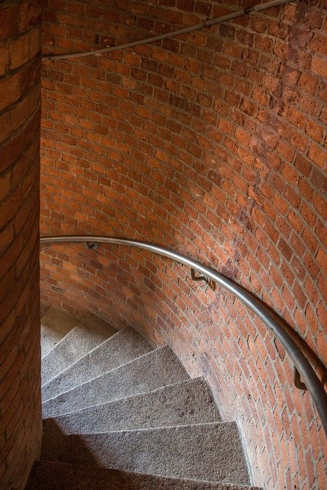 stone stairs in brickc lighthouse, germany