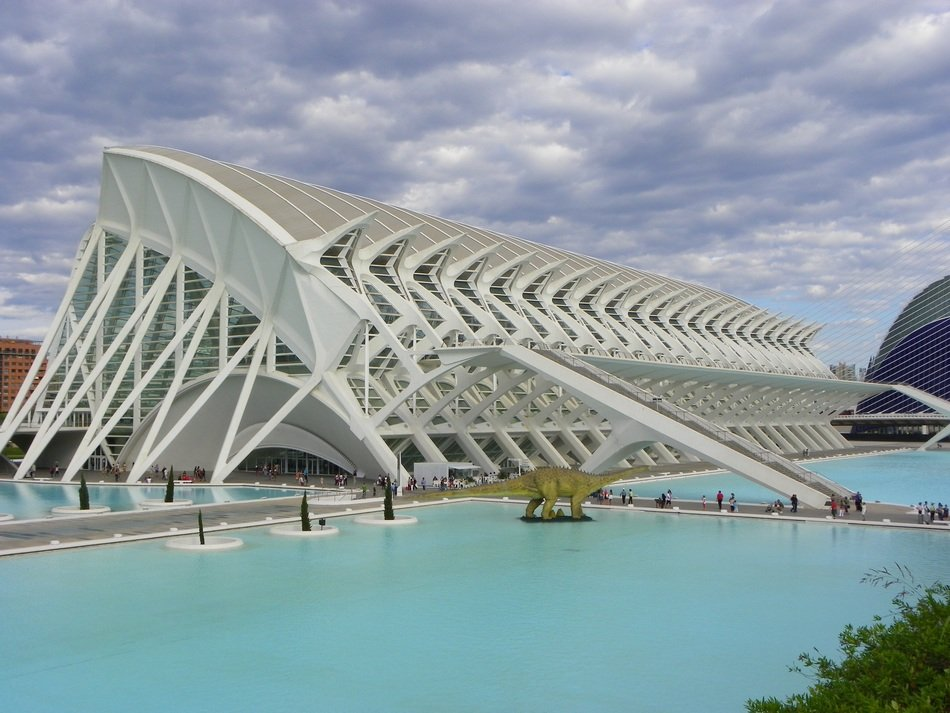 El Museu de les Ciències Príncipe Felipe in city of arts and sciences, spain, valencia